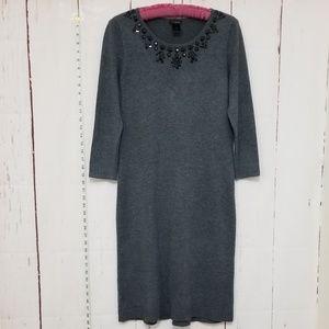 ANN TAYLOR gray sweater dress size M